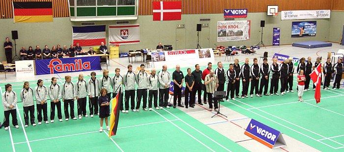 U 19 Badminton-Länderspiel Deutschland - Dänemark in Itzehoe
